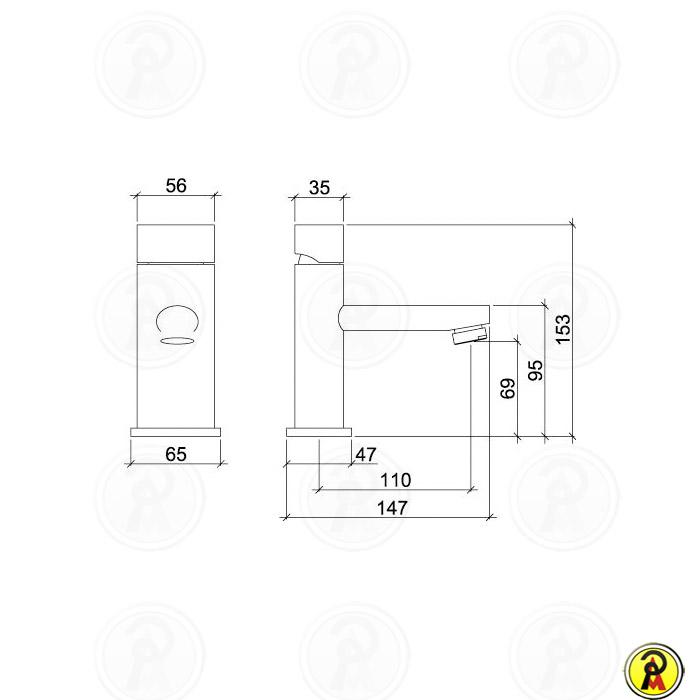 Misturador Monocomando para Lavatório de Mesa Lorenzetti LorenElipse Mix 2875 C68