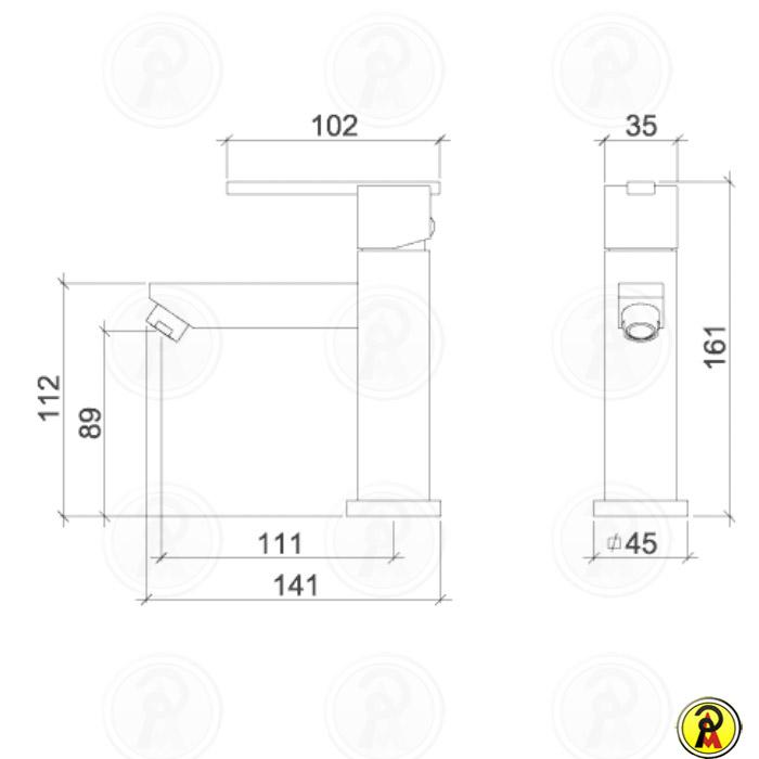 Misturador Monocomando para Lavatório de Mesa Lorenzetti LorenQuadra Slim 2875 C74