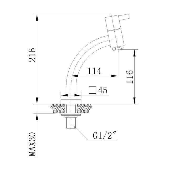 Misturador Monocomando para Lavatório Jiwi WJ-1027-221A