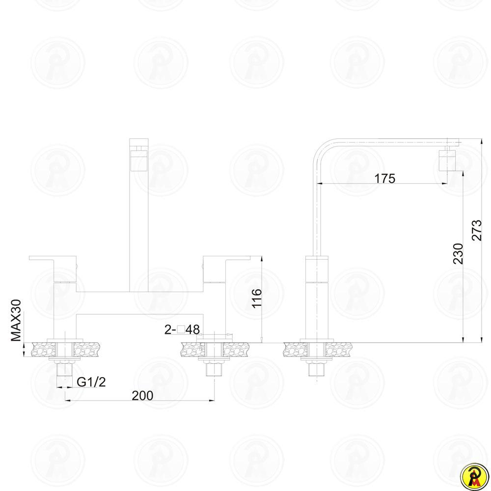 Misturador para Cozinha de Mesa Bica Móvel Jiwi WJ-2662-265A