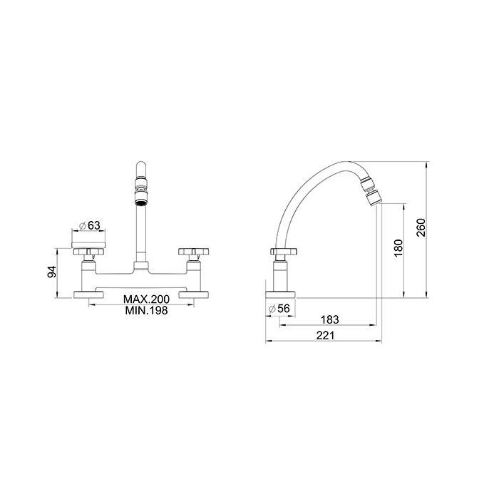 Misturador para Cozinha de Mesa Bica Móvel Lorenzetti LorenTrio 1256 C33
