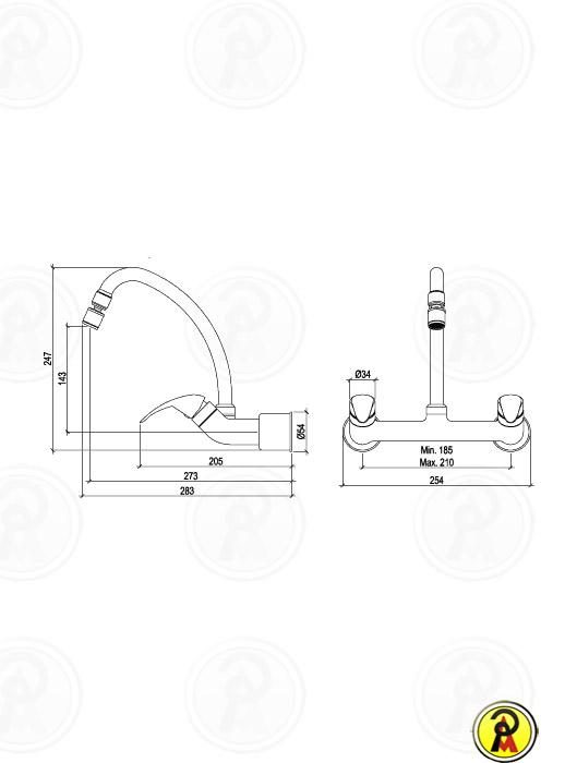 Misturador para Cozinha de Mesa Bica Móvel Lorenzetti LorenEasy 1256 C56