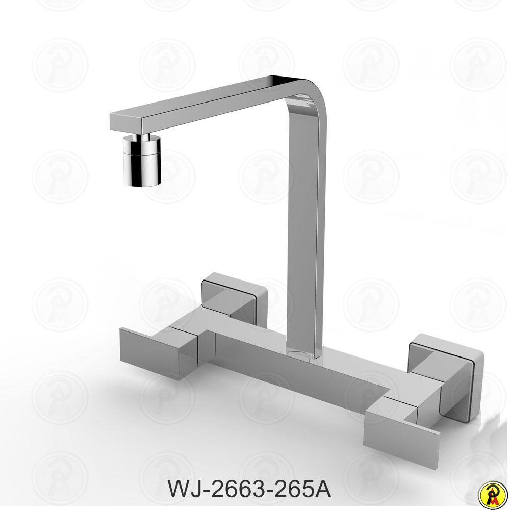 Misturador para Cozinha de Parede Bica Móvel Jiwi WJ-2663-265A