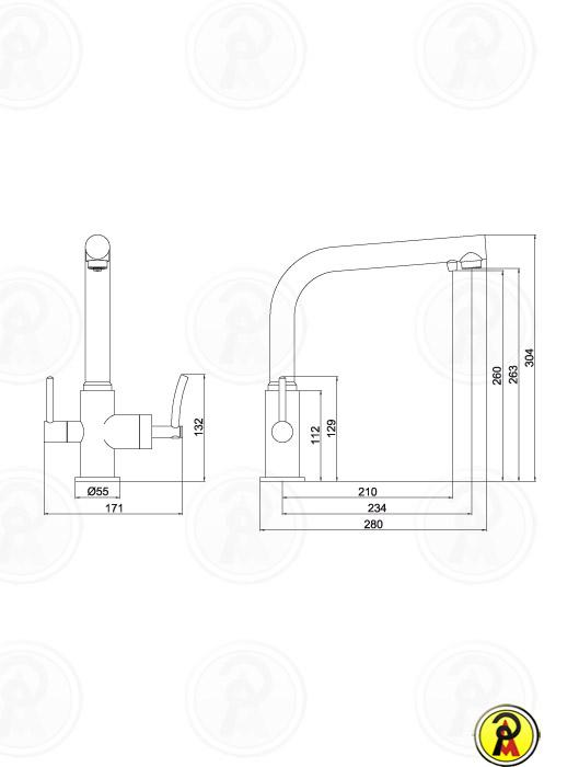 Misturador Monomix para Cozinha Lorenzetti LorenRound 4263 C60