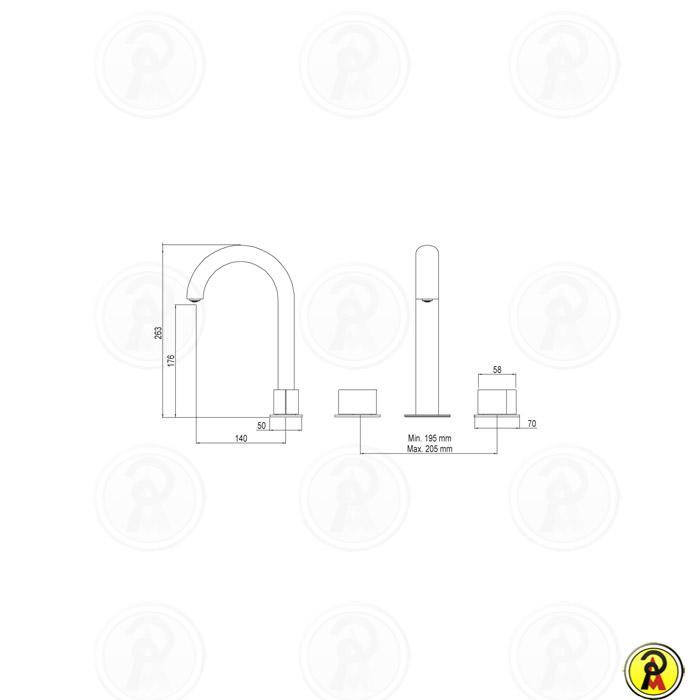 (Sob Consulta) Misturador para Lavatório de Mesa Bica Alta Lorenzetti LorenElipse 1876 C96