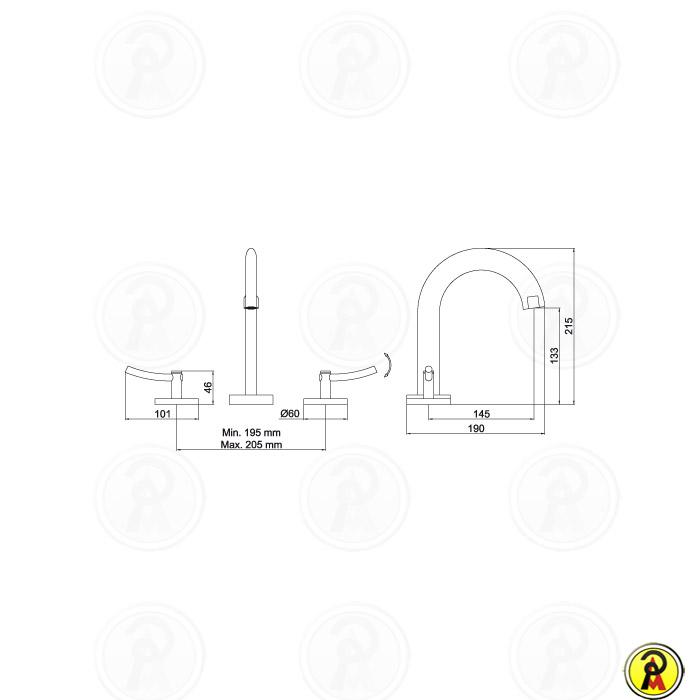 (Sob Consulta) Misturador Lavatório Mesa Bica Alta Lorenzetti LorenRound 1877 C60