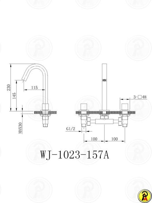 Misturador para Lavatório de Mesa Jiwi WJ-1023-157A