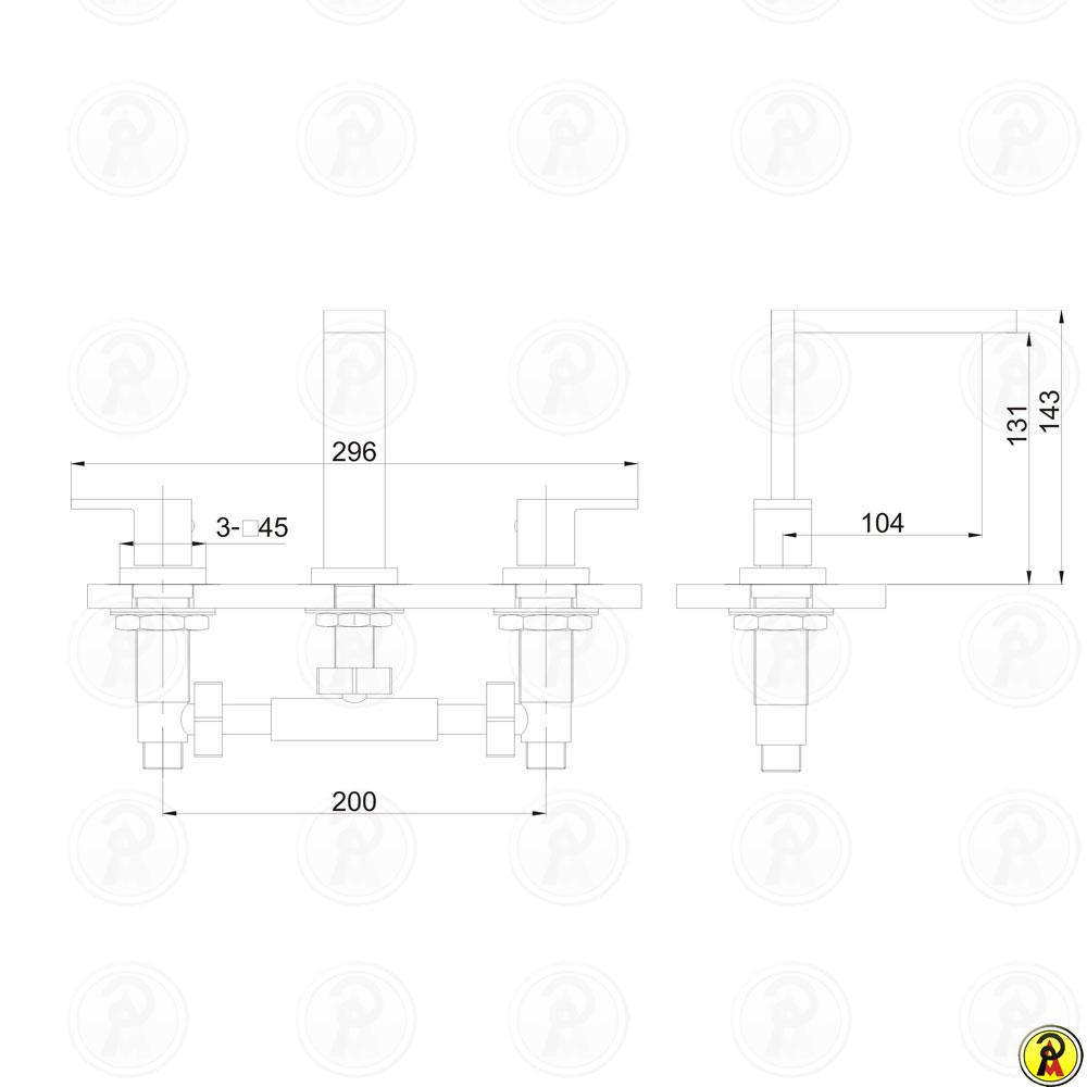 Misturador para Lavatório de Mesa Jiwi WJ-2623-265A