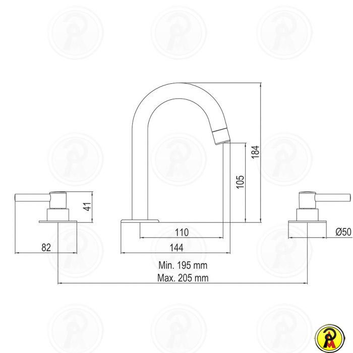 Misturador para Lavatório de Mesa Lorenzetti LorenFit Slim 1877 C31