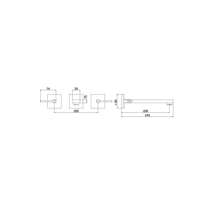 (Vendas Canceladas) - Misturador para Lavatório de Parede Lorenzetti LorenSquare 1878 C67