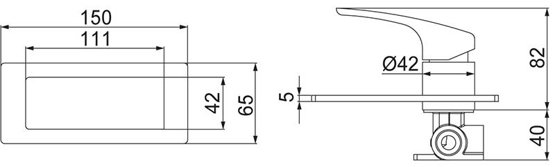 Monocomando para Chuveiro Nickel Lorenzetti 2993 N89
