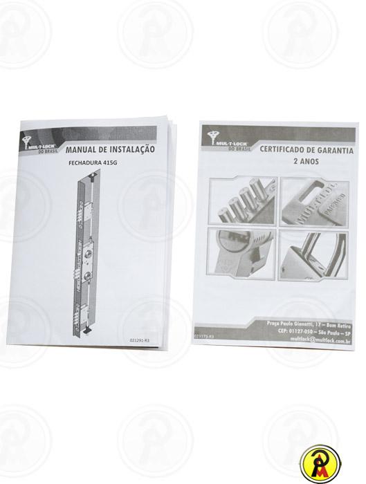 Fechadura de Alta Segurança Multiponto 415 G com Comando Central Mul-T-Lock  - Pinezi Compra Rápida