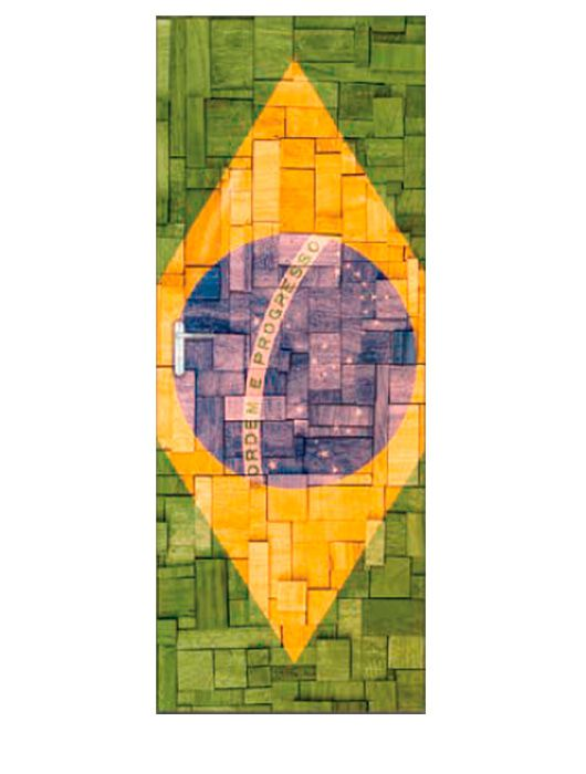 Painel Fotográfico Autocolante para Porta Brasil 2,15x0,92m TacDecor