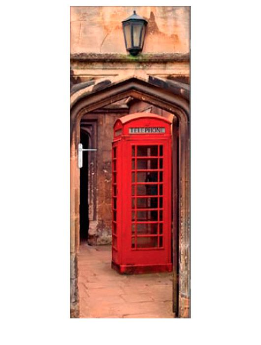 Painel Fotográfico Autocolante para Porta Cabine Retrô 2,15x0,92m TacDecor