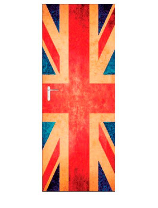 Painel Fotográfico Autocolante para Porta Inglaterra 2,15x0,92m TacDecor