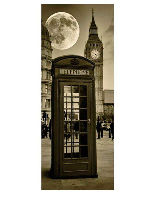 Painel Fotográfico Autocolante para Porta London 2,15x0,92m TacDecor