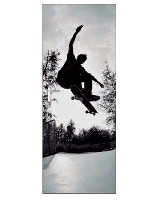 Painel Fotográfico Autocolante para Porta Skateboard 2,15x0,92m TacDecor