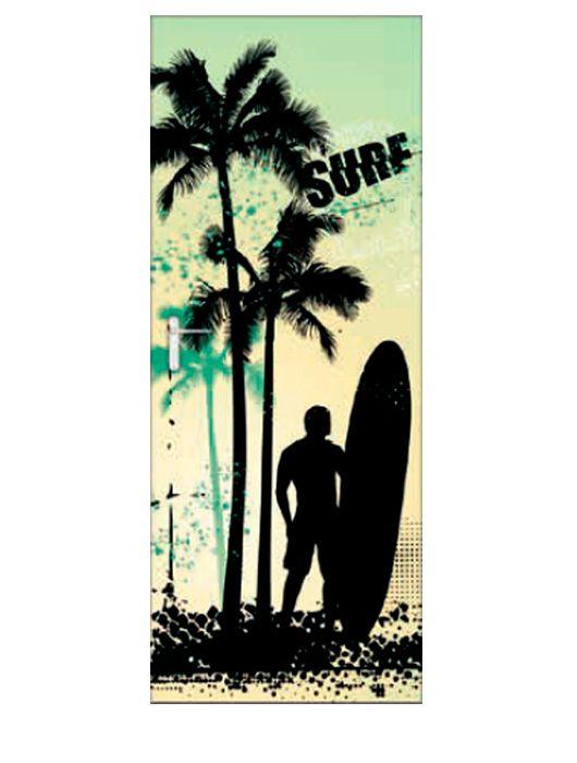 Painel Fotográfico Autocolante para Porta Surf 2,15x0,92m TacDecor
