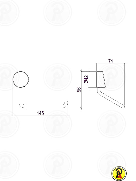 Papeleira de Metal para Parede Lorenzetti LorenFlex 2020 C27