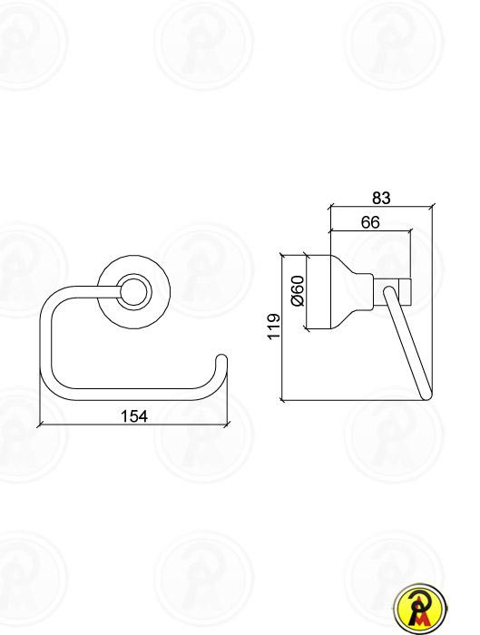 (Inativo) Papeleira de Metal para Parede Lorenzetti Linus 2020 C40 - 50
