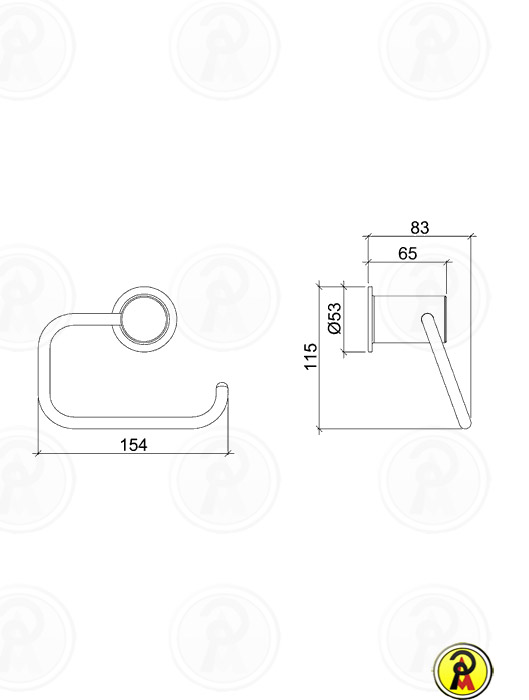 (Sob Consulta) Papeleira de Metal para Parede Lorenzetti Avalon 2020 C43