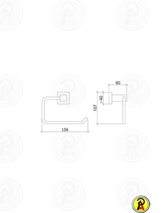 Papeleira de Metal para Parede Lorenzetti LorenQuadra 2020 C84
