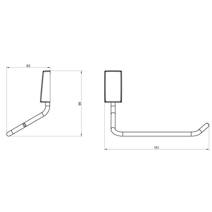Papeleira de Metal para Parede Lorenzetti LorenWay 2020 C30
