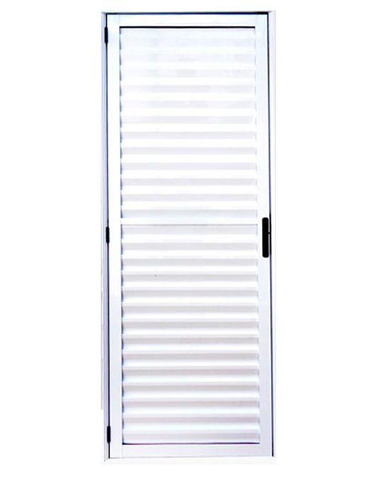 Porta de Alumínio Branco Palheta Lux Esquadrias