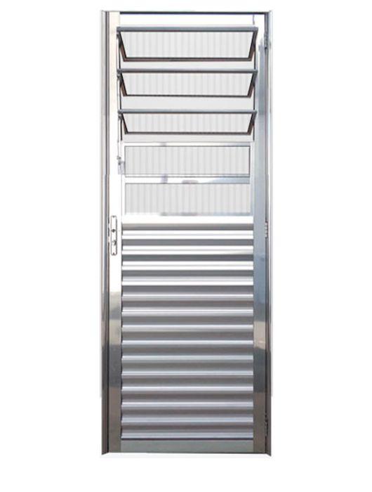 Porta de Alumínio Brilhante Basculante Lux Esquadrias
