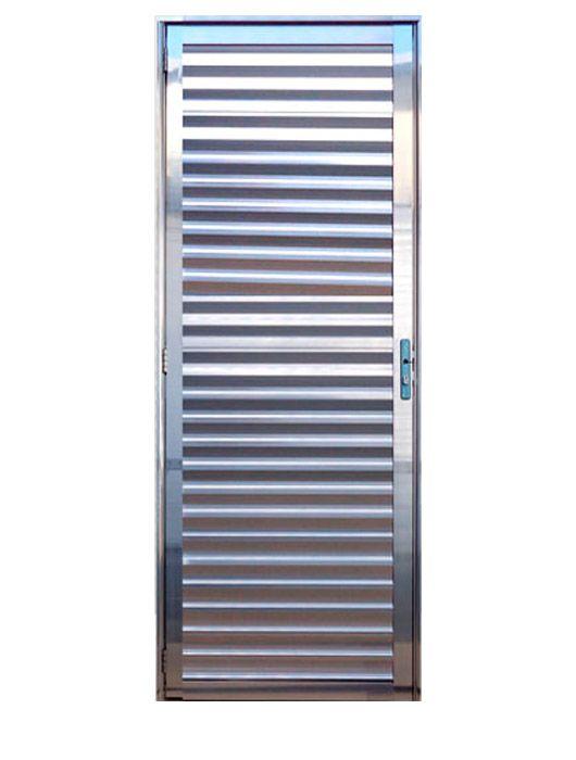 Porta de Alumínio Brilhante Palheta Lux Esquadrias