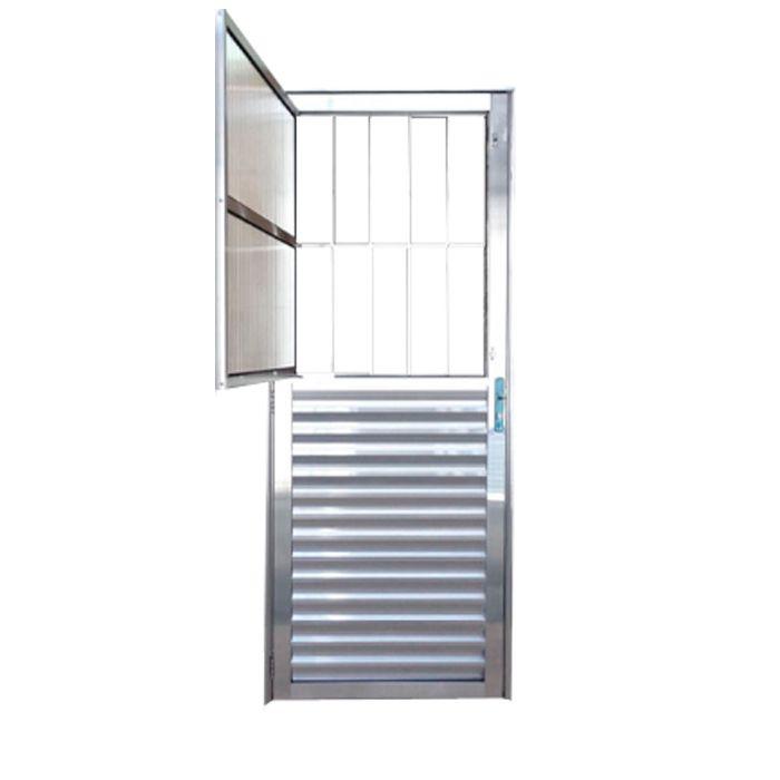 Porta de Alumínio Brilhante Postigo Lux Esquadrias