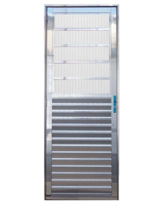 Porta de Alumínio Brilhante Travessa Lux Esquadrias