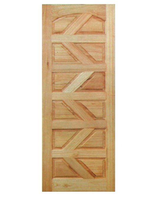 Porta de Entrada Maciça 12 Almofadas Diagonal