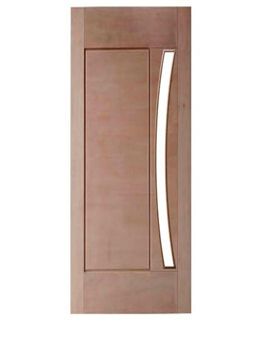 Porta de Entrada Maciça 1 Almofada para Vidro em Arco