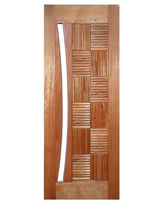 Porta de Entrada Maciça Pivotante África para Vidro Arco