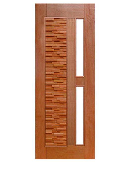Porta de Entrada Maciça Pivotante Mix para Vidro