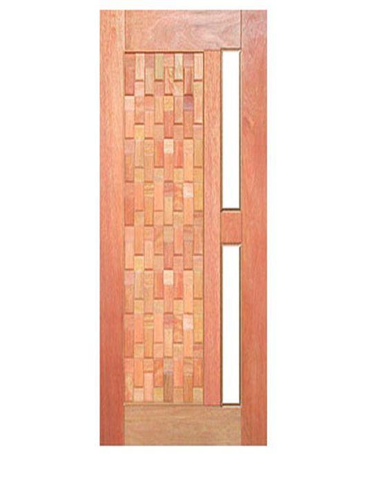 Porta de Entrada Pivotante Maciça Babilônia para Vidro