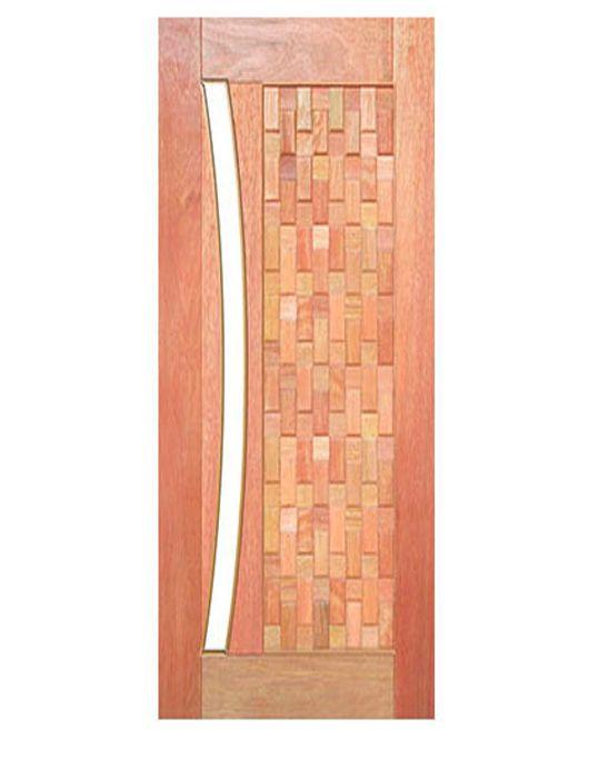 Porta de Entrada Pivotante Maciça Babilônia para Vidro Arco