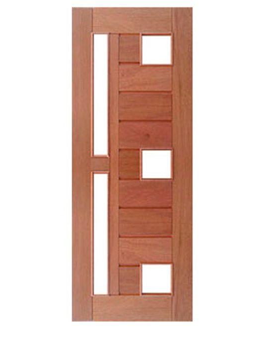 Porta Entrada Maciça Pivotante Mexicana Horizontal para 4 Vidros