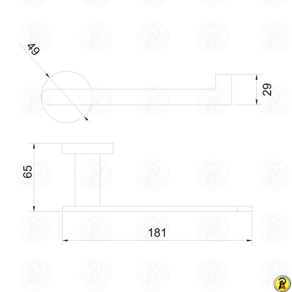 Porta Papel Higiênico sem Tampa Jiwi WJ-1388  - Pinezi Compra Rápida