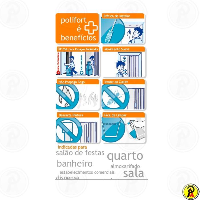 Porta Sanfonada de PVC Polifort
