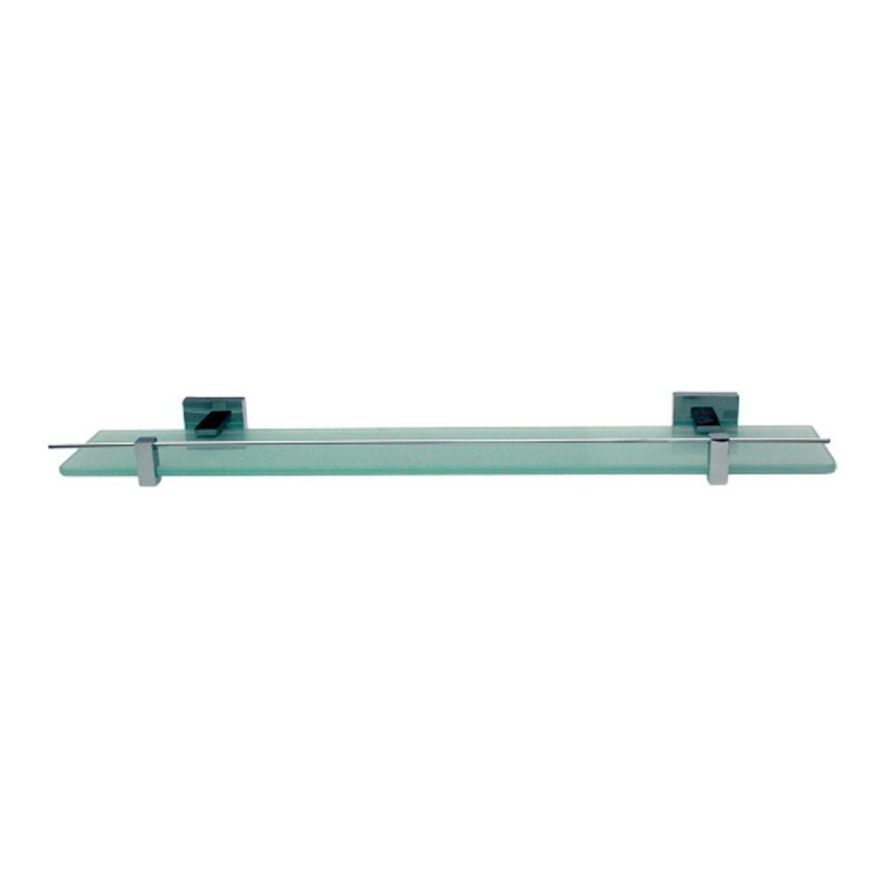 Porta Shampoo Em Latão e Vidro Quadrado Trend Citrino TM 176501