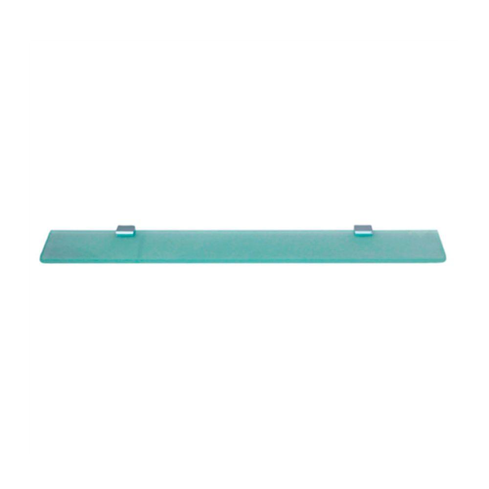 Porta-Shampoo Quadrado Slim Latão Com Vidro Trend Citrino TM 176503