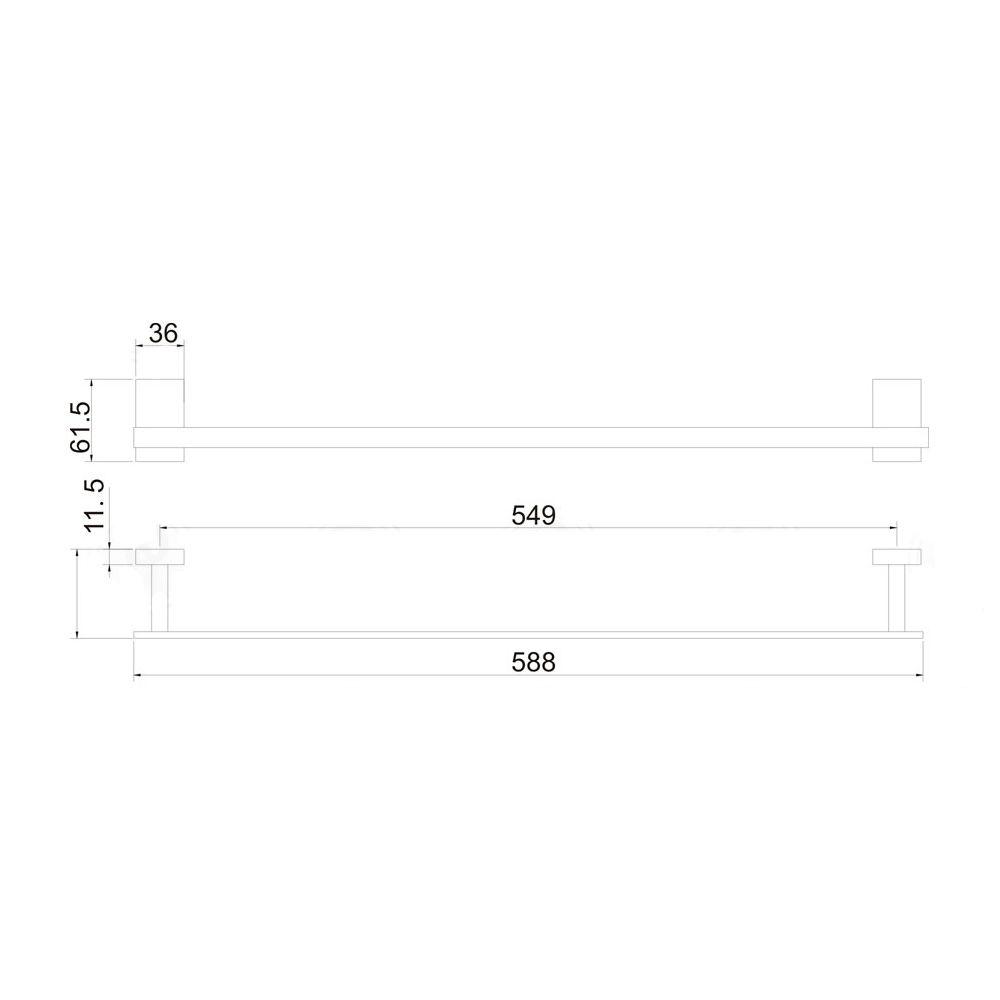 Porta Toalha 60cm Jiwi WJ-2685