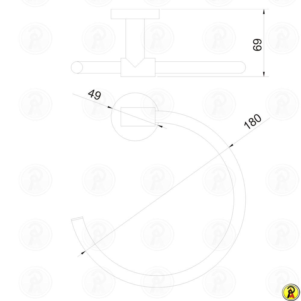 Porta Toalha de Rosto Jiwi WJ-1184  - Pinezi Compra Rápida