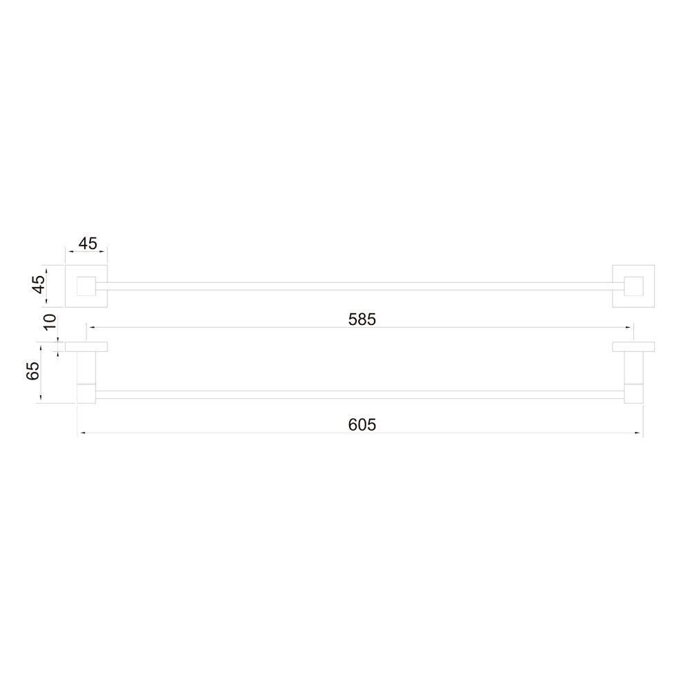 Porta Toalha Linear 60cm Jiwi WJ-1085