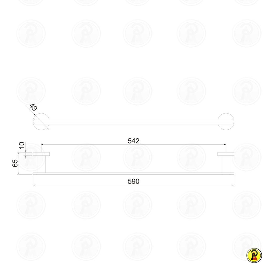 Porta Toalha Linear 60cm Jiwi WJ-1385