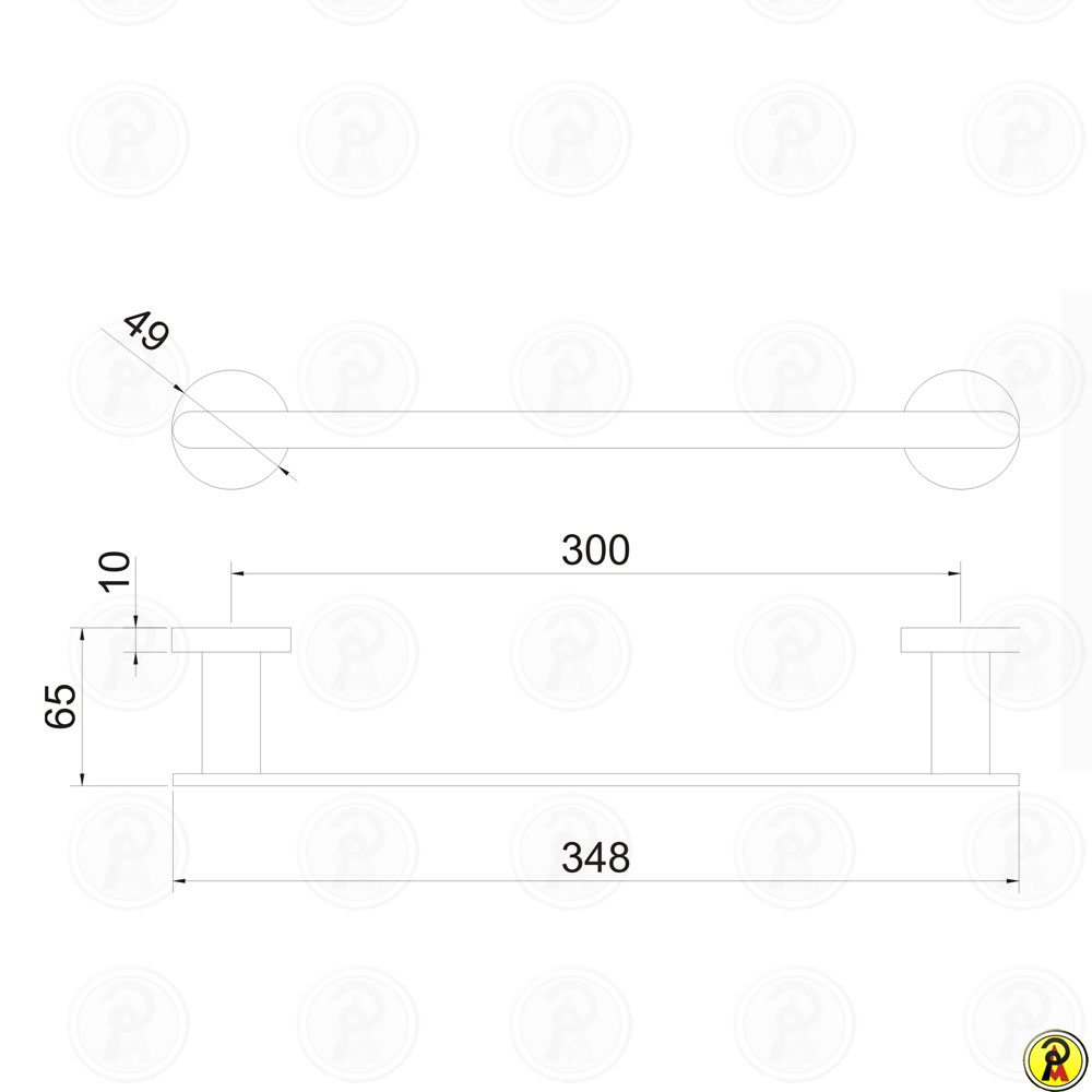 Porta Toalha Rosto 30cm Jiwi WJ-1389  - Pinezi Compra Rápida
