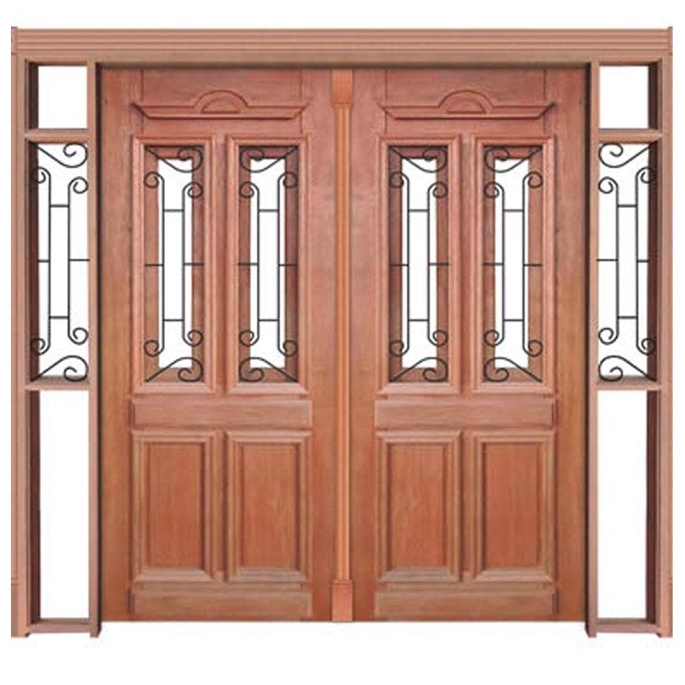 Portal de Entrada Duplo de Abrir 2 Folhas Duquesa com Grade Casmavi