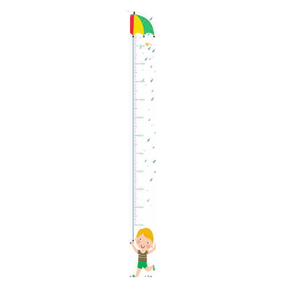 Régua Adesiva Autocolante de Crescimento Infantil Menino R01 TacDecor